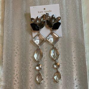 Kate Spade Chandelier Multi Crystals Maxi Earrings